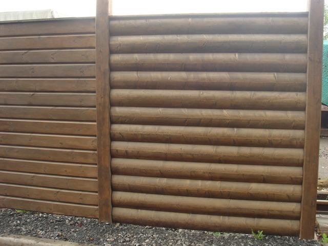 Забор из блок-хауса