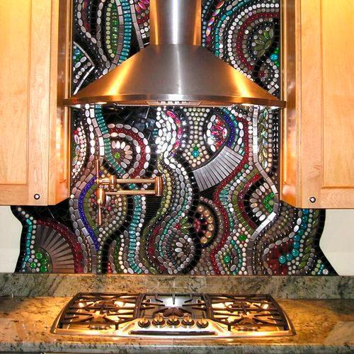 мозаичная плитка на кухне фото