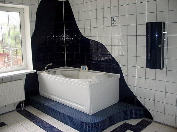 варианты укладки плитки в ванной