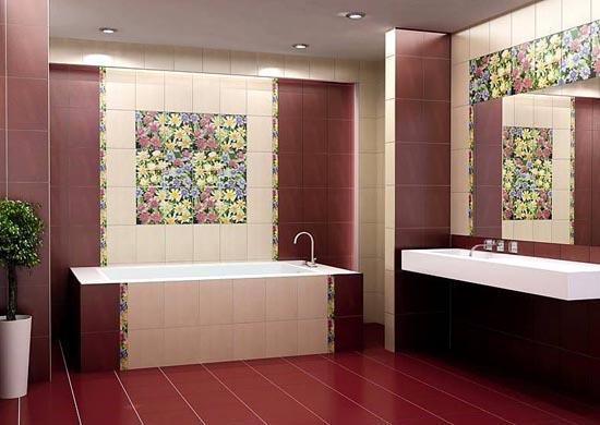 виды плиток для ванной фото