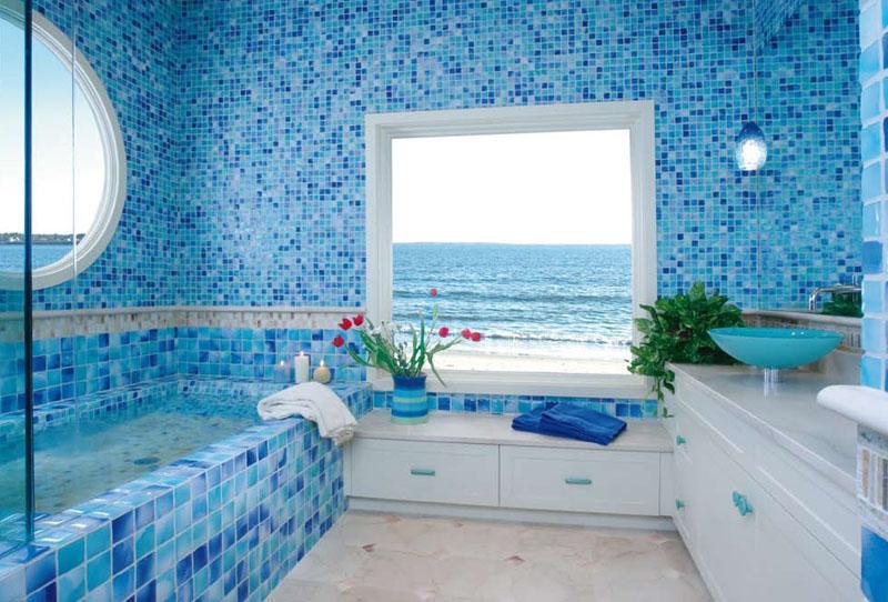 облицовка плиткой ванной комнаты фото