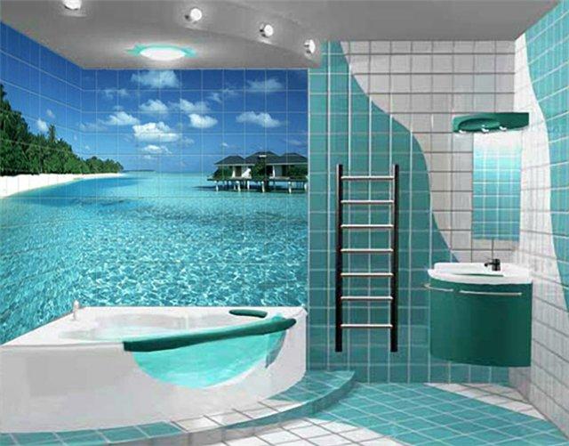 отделка ванны плиткой фото
