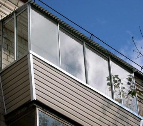 остекление балконов установка крыши