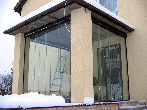 остекление коттеджей частных домов фасады