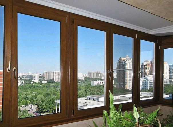 деревянное остекление балкона