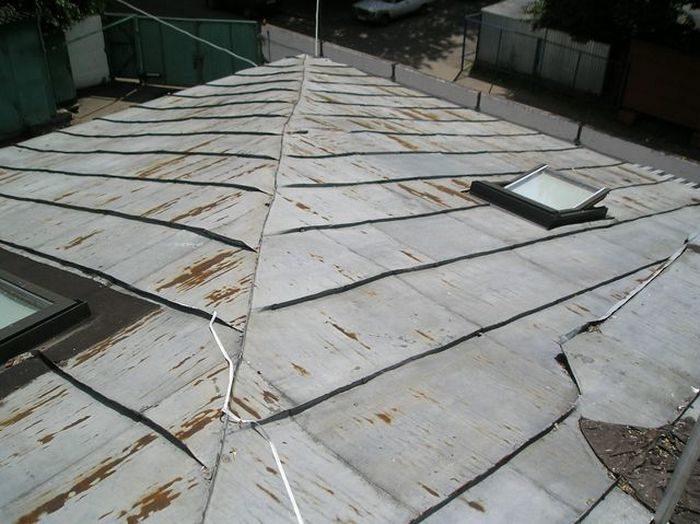 герметизация фальцев крыши