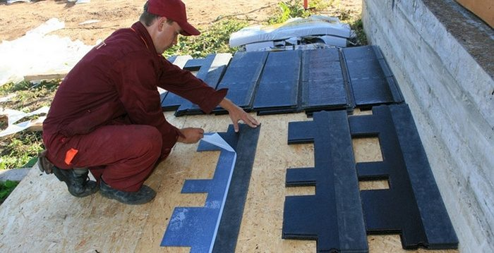 покрытие крыши шингласом