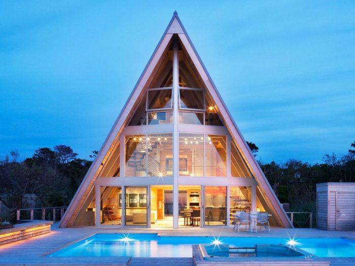 треугольная крыша