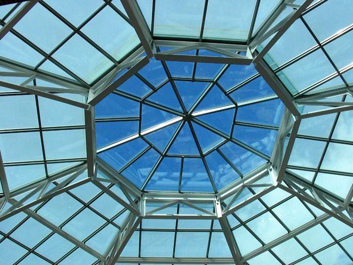 рама стеклянной крыши