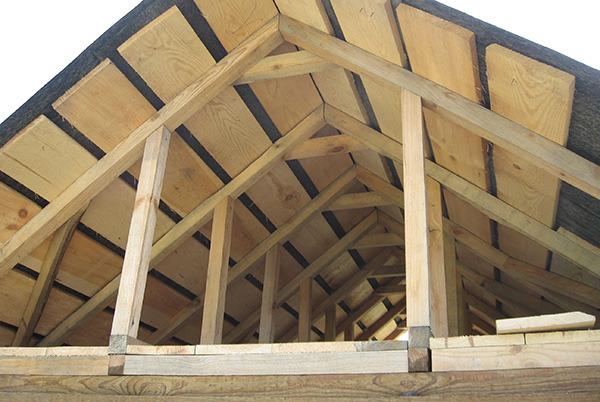 рубероид на деревянную крышу