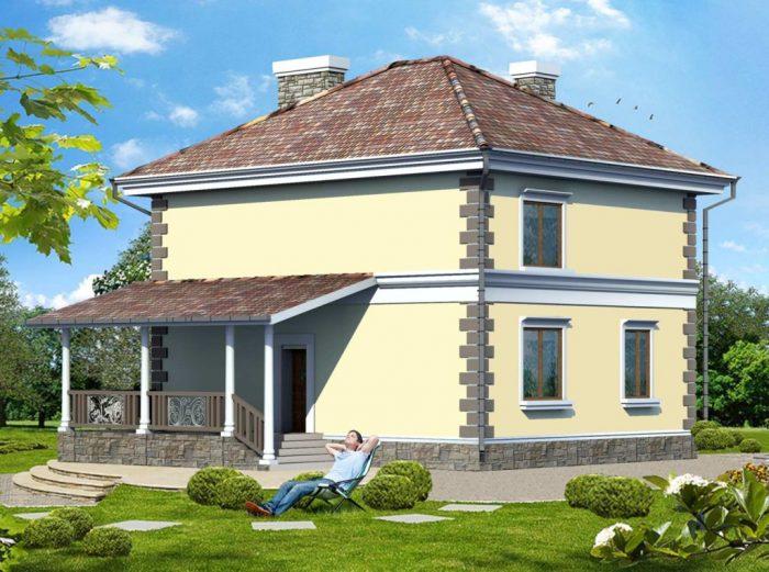 крыши двухэтажных домов
