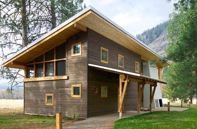 дома с крышей без отделки