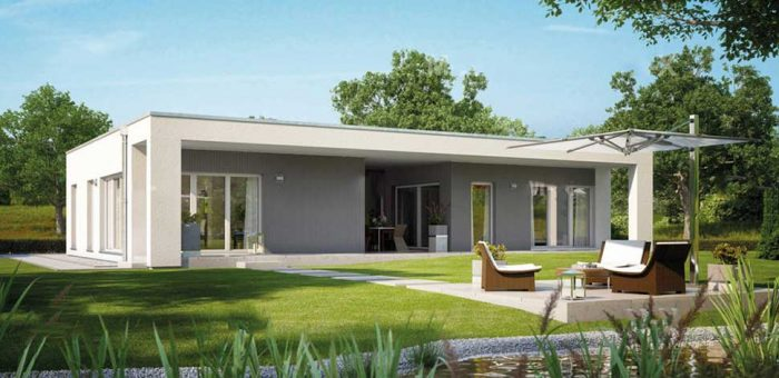 одноэтажные дома с плоской крышей