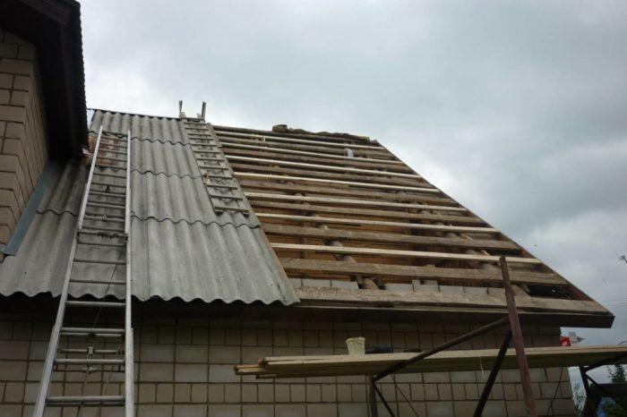 особенности монтажа шиферной крыши