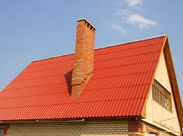 герметизация шиферной крыши