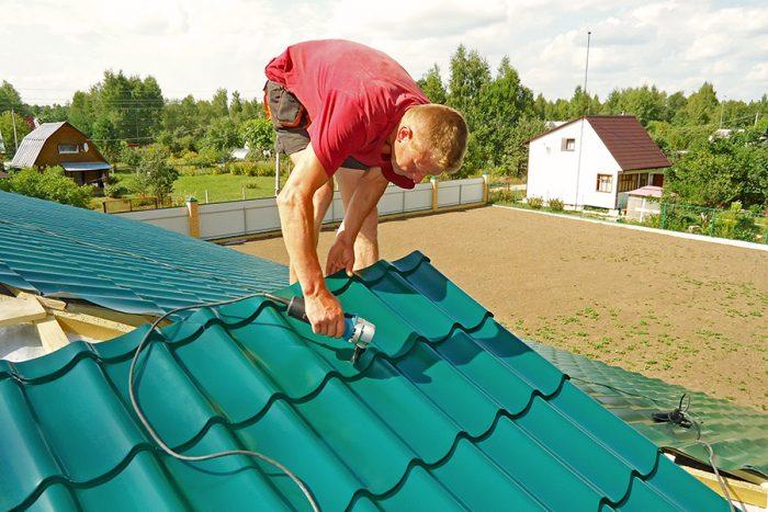 резка и подготовка листов покрытия