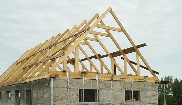 двухскатная крыша для дома 10 на 10