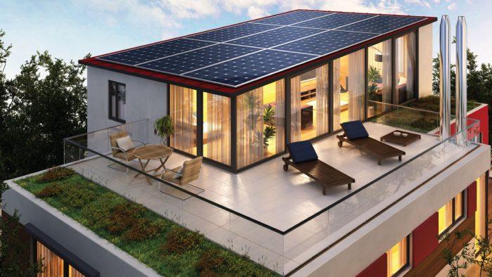 солнечные батареи подзаряжают дом