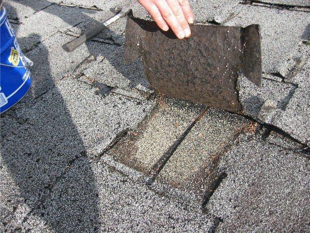 поиск повреждений на крыше