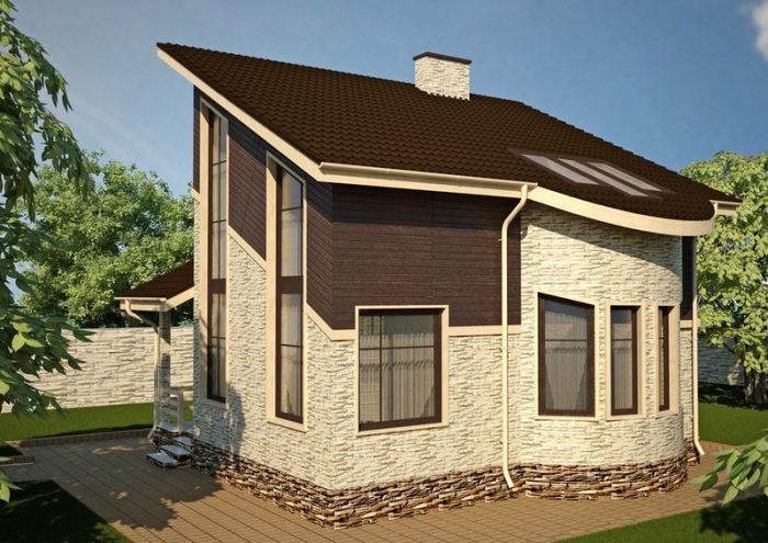 архитектурные особенности односкатных крыш