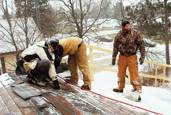 ремонт крыш в зимний период времени