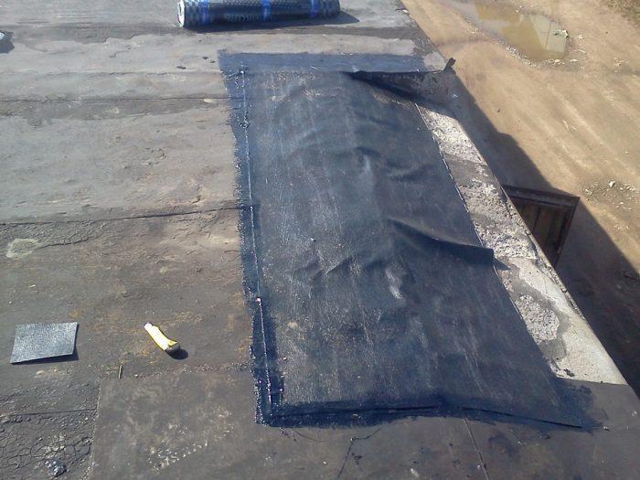 выполнение локального ремонта крыши