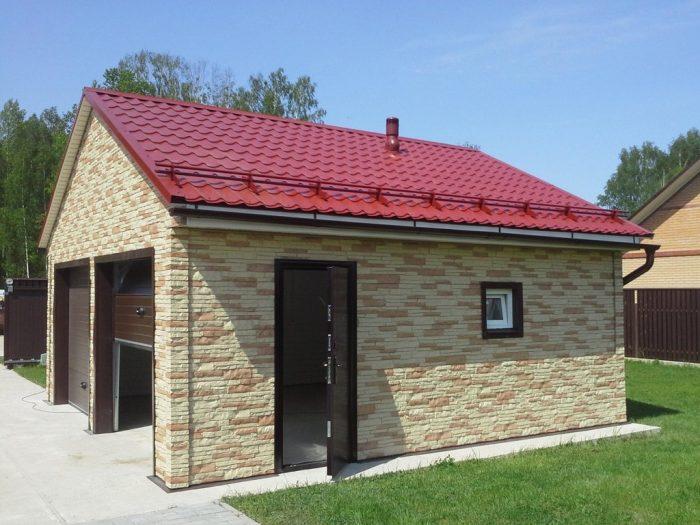 крыша гаража двускатного типа