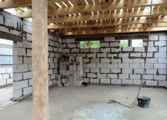 подъем крыши отдельно стоящего гаража