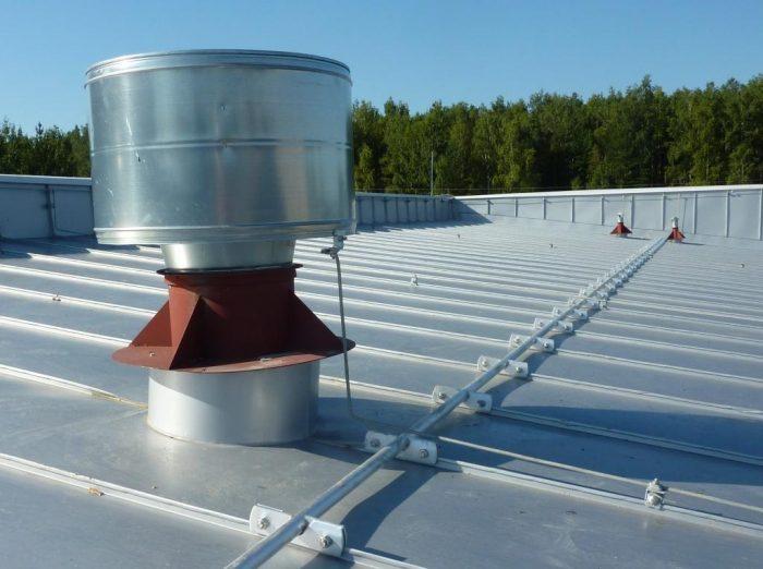 pаземление для металлической крыши