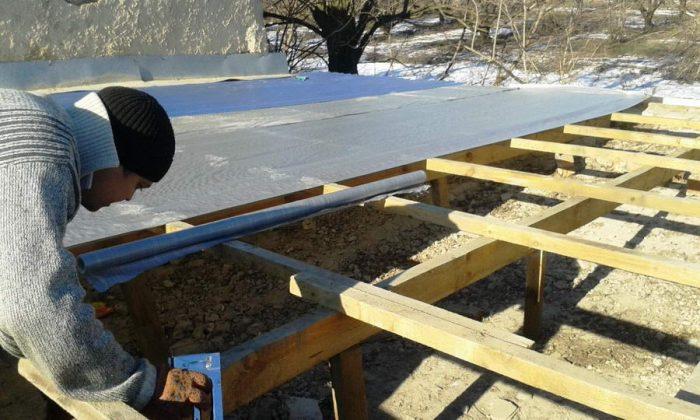 инструкция по строительству односкатной крыши