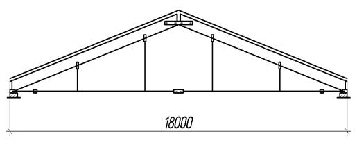 трехшарнирная треугольная арка