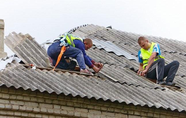 восстановление шиферной крыши