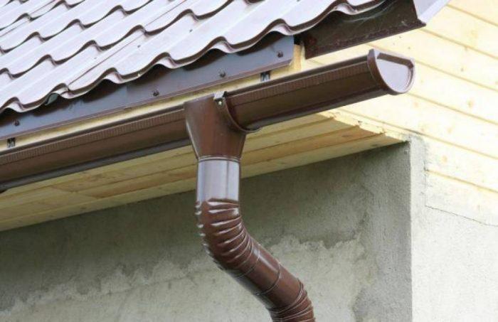 пример металлической ливневки для дома