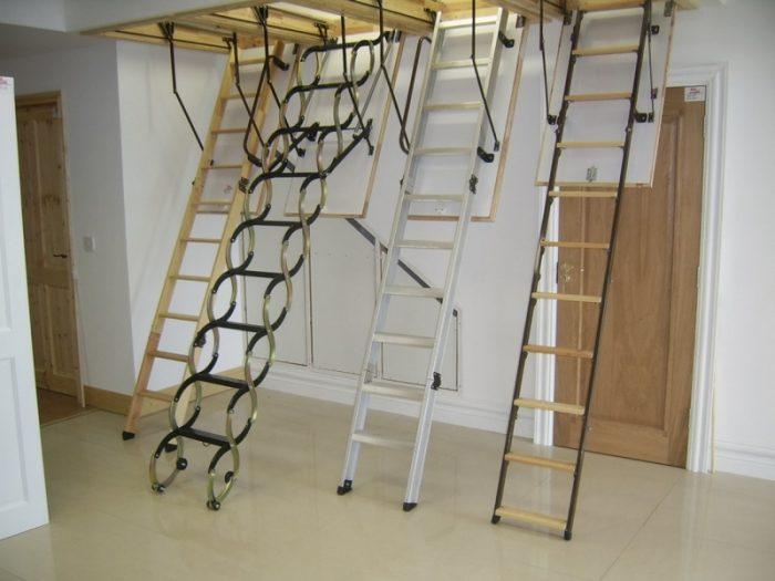 виды чердачных лестниц