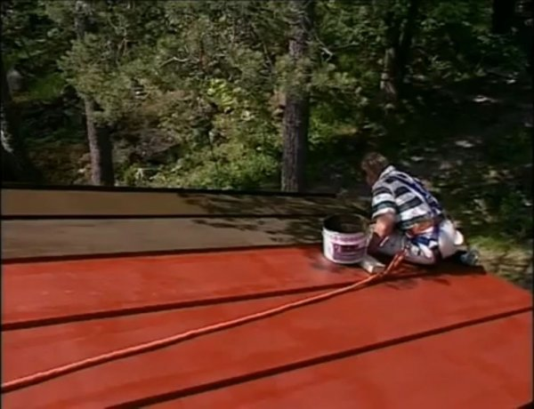 покраска крыши из черного металла