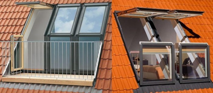 двухстворчатые окна для крыши