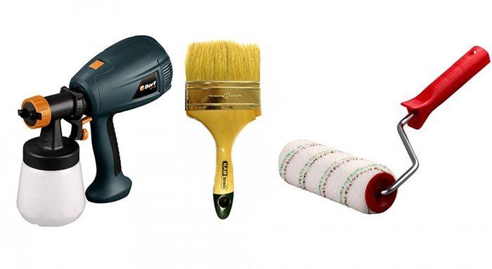 выбор инструмента для нанесения краски