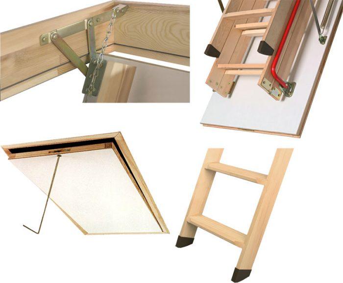 основные элементы шарнирной лестницы