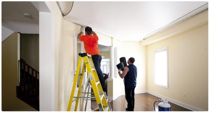 замена потолочного покрытия