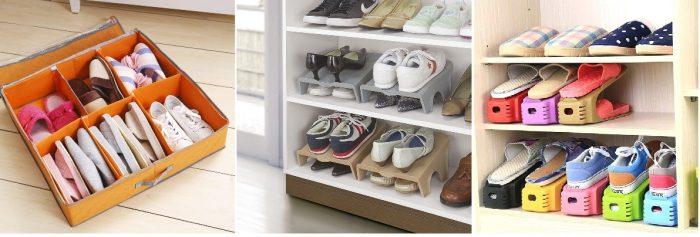 Варианты хранения обуви