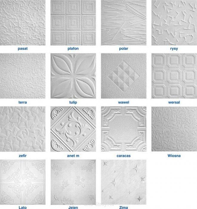виды пенопластовой плитки