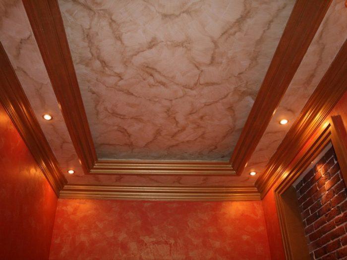 декоративная отделка гипсокартонных потолков