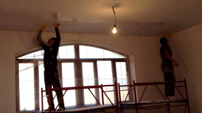 рнемонт гипсокартонного потолка