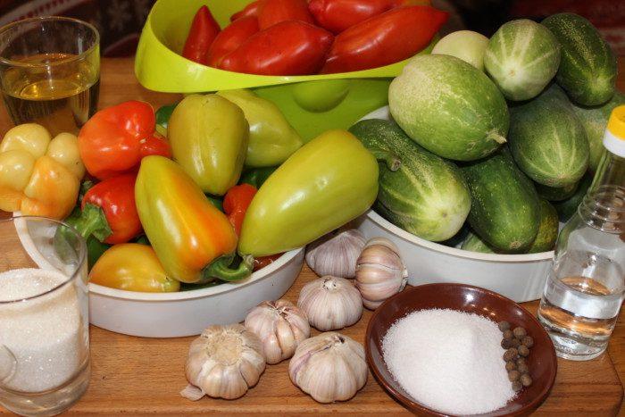 Грузинский салат - ингредиенты