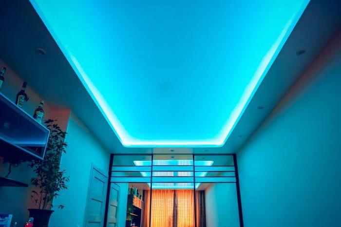 тканевые прозрачные натяжные потолки