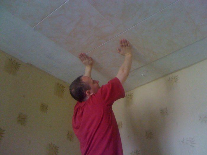 ровный потолок без швов