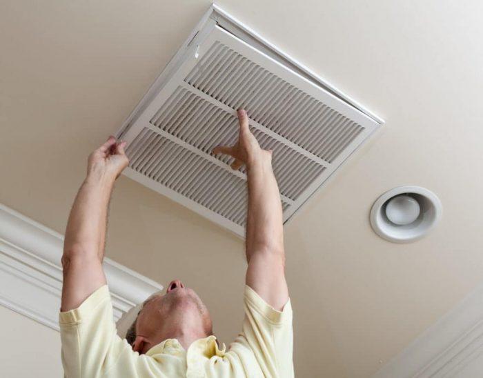 монтаж решетки вентиляции