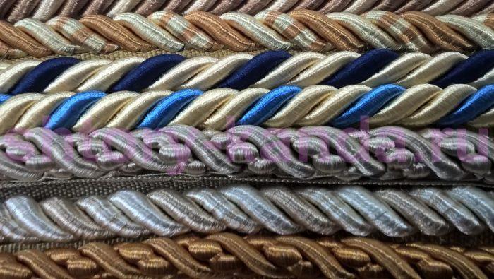 виды декоративных шнуров