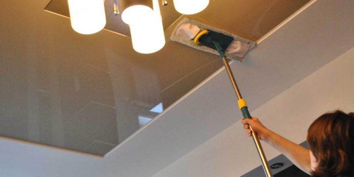 технология очистки подвесных покрытий