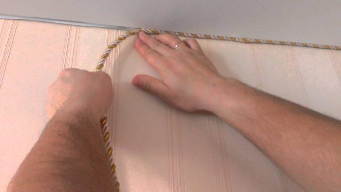 установка декоративного шнура